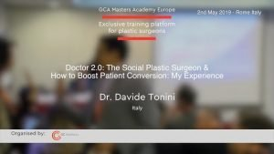 Doktor 2.0: Der soziale plastische Chirurg & wie man die Kundengewinnung fördert, präsentiert von Dr. Davide Tonini